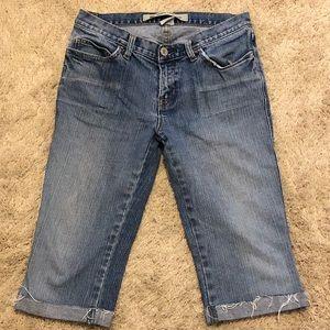 Gap ultra low rise jean shorts